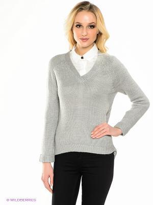 Пуловер EASY WEAR. Цвет: светло-серый