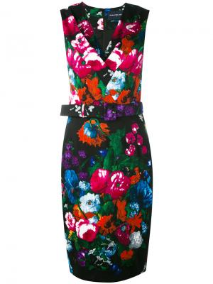 Floral print belted dress Samantha Sung. Цвет: многоцветный