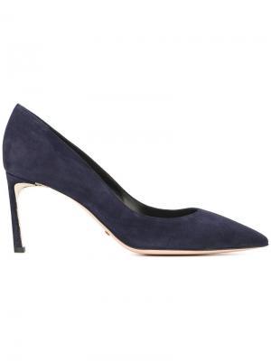 Туфли с заостренным носком Sebastian. Цвет: синий