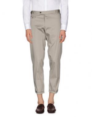 Повседневные брюки MESSAGERIE. Цвет: голубиный серый