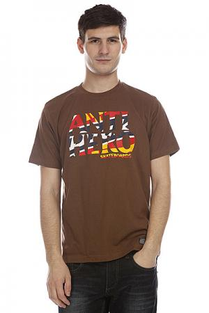 Футболка  Ah Fw11 Dark Brown Dickies. Цвет: коричневый