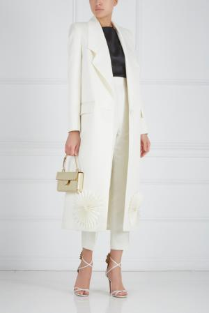 Шелковое пальто Ester Abner. Цвет: молочный