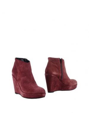 Полусапоги и высокие ботинки GAIA D'ESTE. Цвет: красно-коричневый