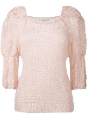 Джемпер ручной вязки Luciole Mes Demoiselles. Цвет: розовый и фиолетовый