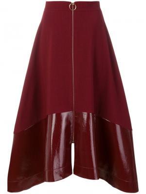 Расклешенная юбка на молнии Roksanda. Цвет: красный