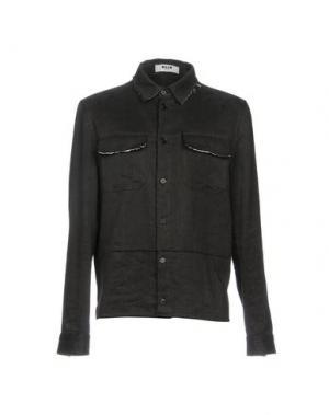 Джинсовая рубашка MSGM. Цвет: черный