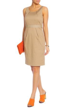 Повседневное платье средней длины Caractere. Цвет: коричневый