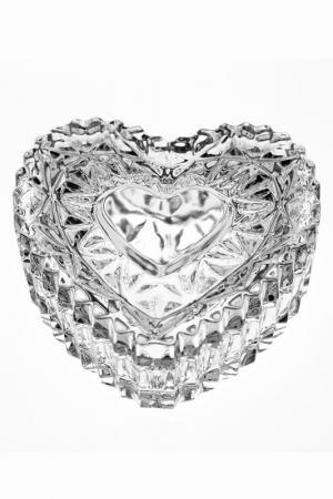 Доза Сердце, 6,5 см CRYSTAL BOHEMIA. Цвет: прозрачный