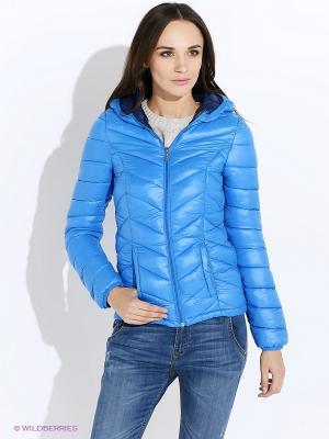 Куртка Oodji. Цвет: синий
