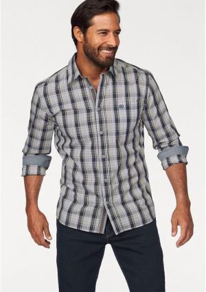 Рубашка MANS WORLD MAN'S. Цвет: белый/серый/коричневый в клетку