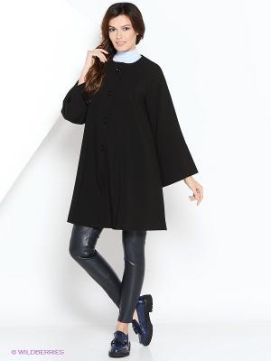 Пальто ELENA FEDEL. Цвет: черный