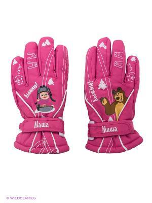 Перчатки Disney Princess. Цвет: розовый, белый, коричневый