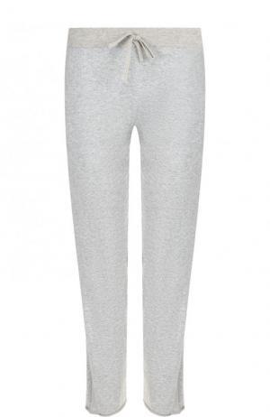 Хлопковые укороченные брюки с эластичным поясом Deha. Цвет: серый