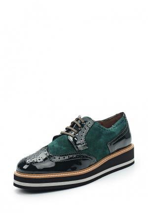 Ботинки La Coleccion. Цвет: зеленый