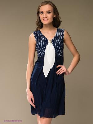 Платье TOPSANDTOPS. Цвет: темно-синий