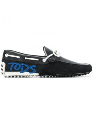 Gommino driving shoes Tods Tod's. Цвет: синий
