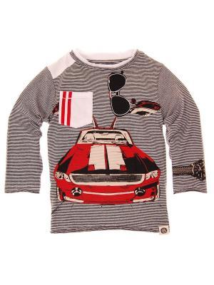 Лонгслив Classic Gullwing Long Sleeve Tee Mini Shatsu. Цвет: серый, красный, белый