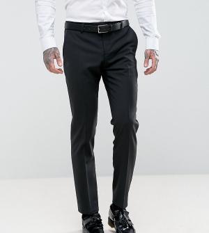 Noose & Monkey Супероблегающие брюки под смокинг. Цвет: черный