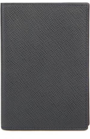 Футляр для паспорта Smythson. Цвет: темно-синий