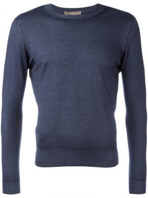 Трикотажный свитер Cruciani. Цвет: синий