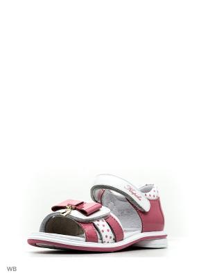 Сандалии Kapika. Цвет: розовый, белый