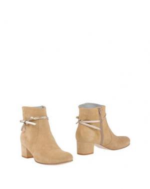 Полусапоги и высокие ботинки EMANUELA PASSERI. Цвет: песочный