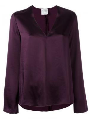 Блузка с V-образным вырезом Forte. Цвет: розовый и фиолетовый