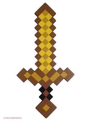 Меч Золотой пиксельный 60см Toypost. Цвет: коричневый