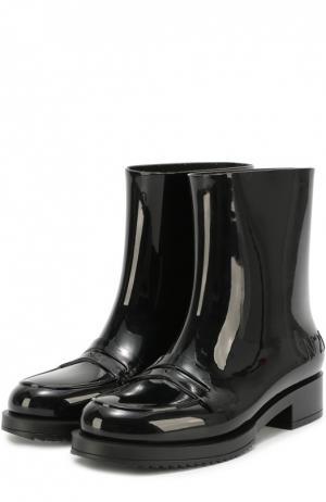 Резиновые сапоги с перемычкой N21#Kartell. Цвет: черный