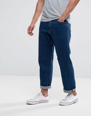 Lee Выбеленные прямые джинсы свободного кроя. Цвет: синий