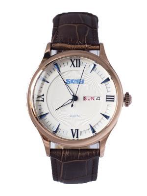 Часы SKMEI. Цвет: коричневый, белый, золотистый