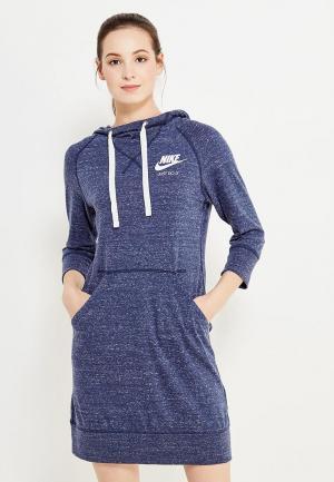 Платье Nike. Цвет: синий