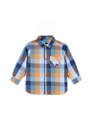 Рубашка Coccodrillo. Цвет: синий, желтый, коричневый