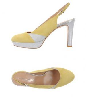 Туфли ANDREA CATINI. Цвет: желтый