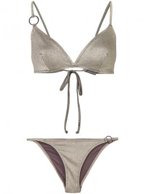 Evie bikini set Morgan Lane. Цвет: металлический
