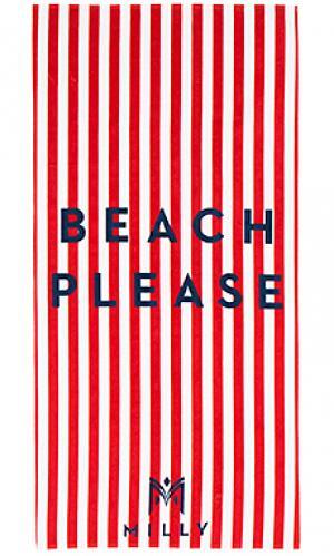 Пляжное полотенце в полоску beach please MILLY. Цвет: красный