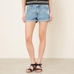 Шорты джинсовые SHELDON REIKO. Цвет: синий деним