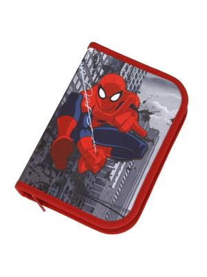 Пенал с ассортиментом Spider-Man, 30 позиций, 6/36 Scooli. Цвет: красный, серый