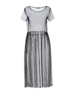 Платье длиной 3/4 ODI ET AMO. Цвет: черный