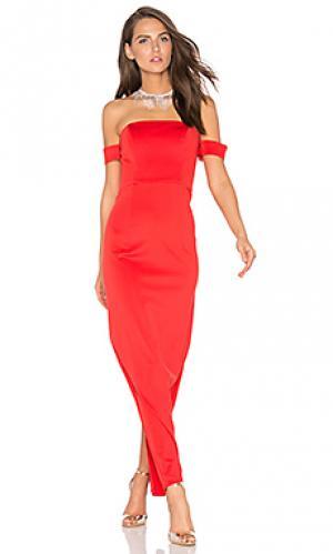 Макси платье keep control Lumier. Цвет: красный