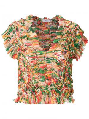 Блузка со сборками Isolda. Цвет: многоцветный