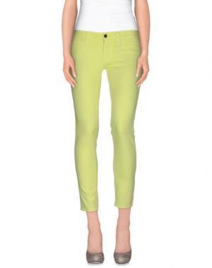 Повседневные брюки S.O.S by ORZA STUDIO. Цвет: кислотно-зеленый