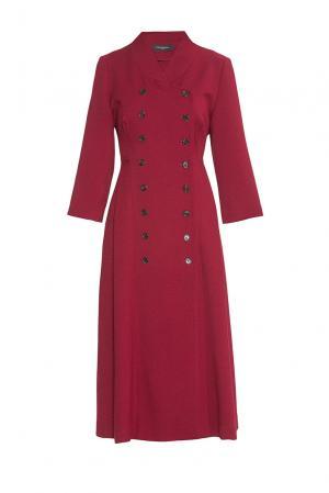 Платье из искусственного шелка 180594 Cyrille Gassiline. Цвет: красный