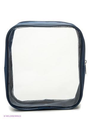 Несессер Авиа-2 Cross Case. Цвет: синий, прозрачный