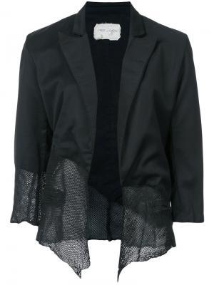 Асимметричный пиджак Greg Lauren. Цвет: чёрный