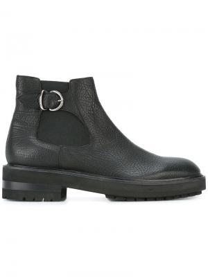 Ботинки с пряжкой Fratelli Rossetti. Цвет: чёрный