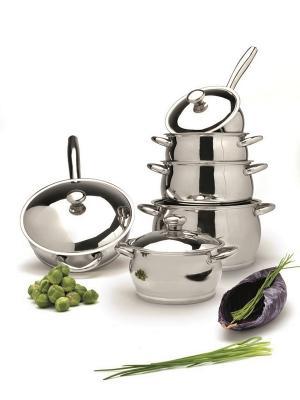 Набор посуды  из нержавеющей стали Cosmo 12 пр. BergHOFF. Цвет: серебристый