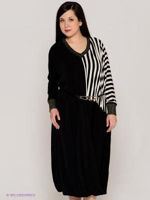 Платье VERDA. Цвет: черный, кремовый