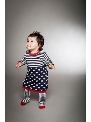 Комплект одежды BABALUNO. Цвет: белый, темно-синий, красный