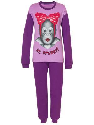Пижама M&DCollection. Цвет: сиреневый